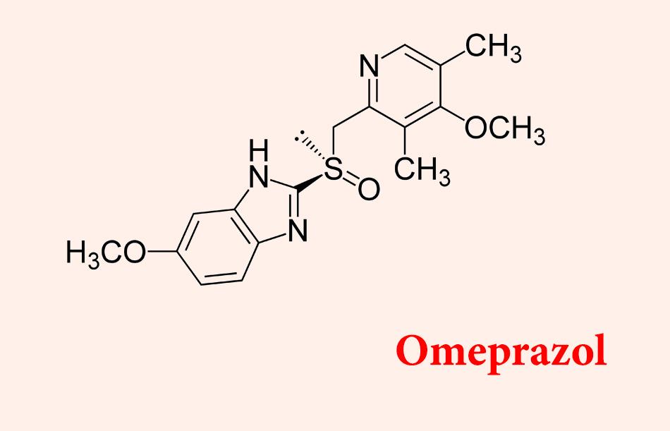 Công thức hóa học của omeprazole