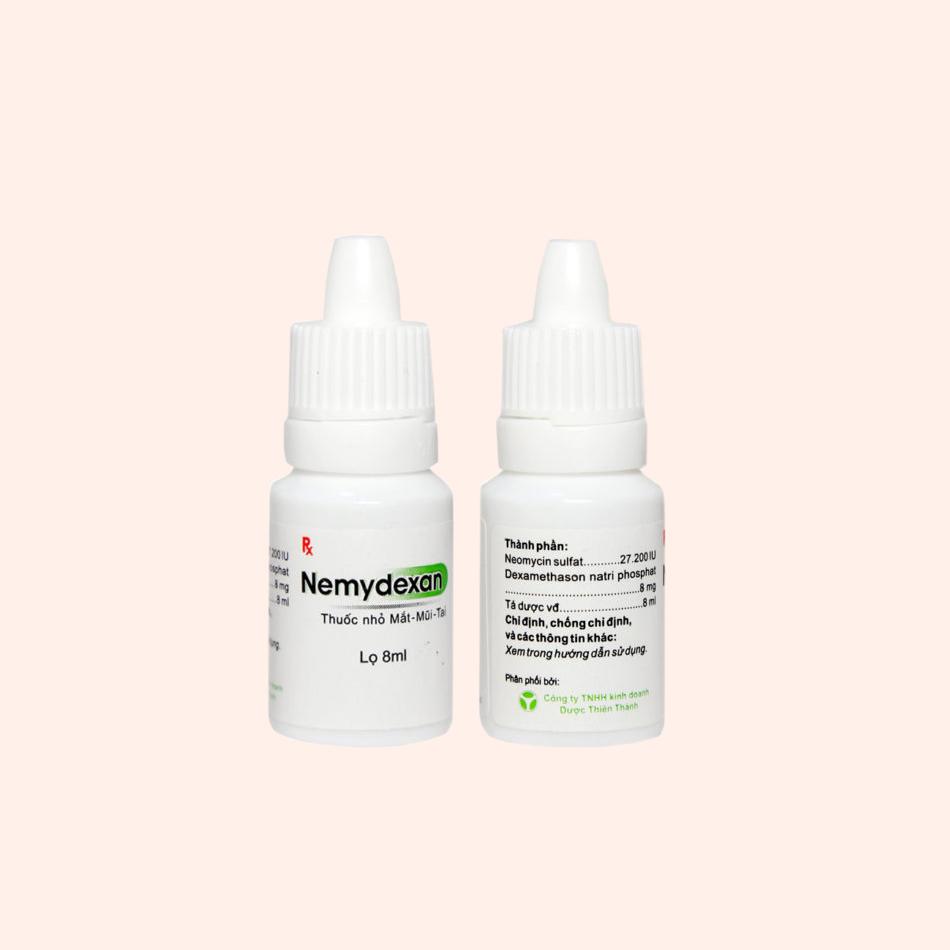 Hình ảnh: Lọ thuốc nhỏ mắt, mũi, tai Nemydexan 8ml