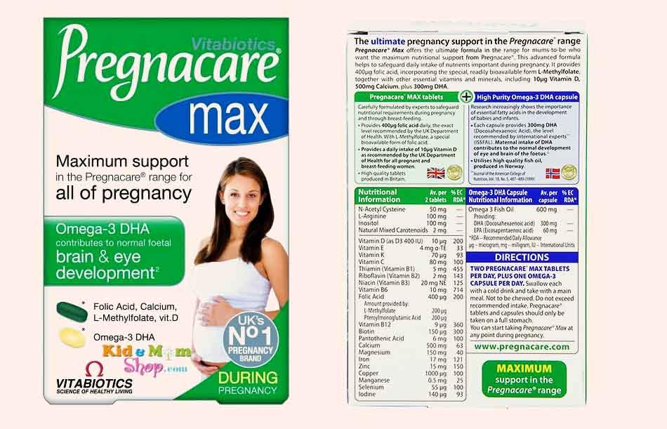 Vitabiotics Pregnacare max