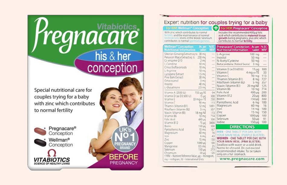 Vitabiotics Pregnacare his & her conception
