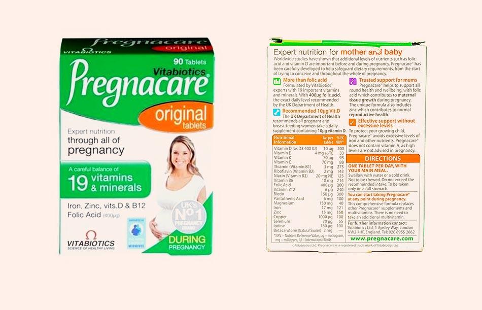 Vitabiotics Pregnacare original tablets