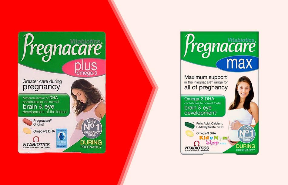 So sánh Pregnacare plus và Pregnacare max