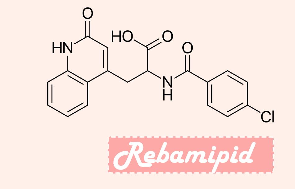 Công thức hóa học của Rebamipid