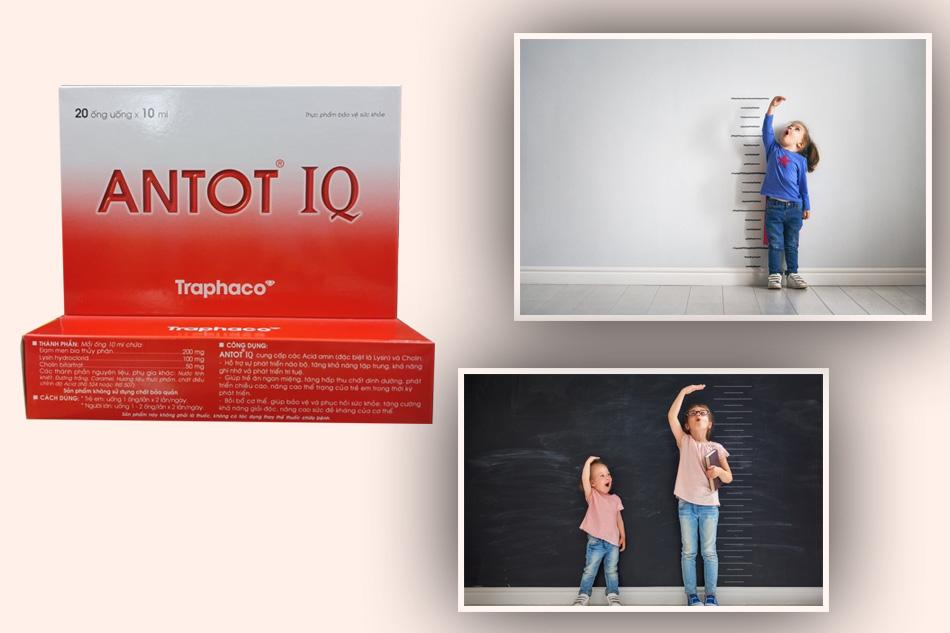 Antot IQ hỗ trợ tăng cân, tăng chiều cao