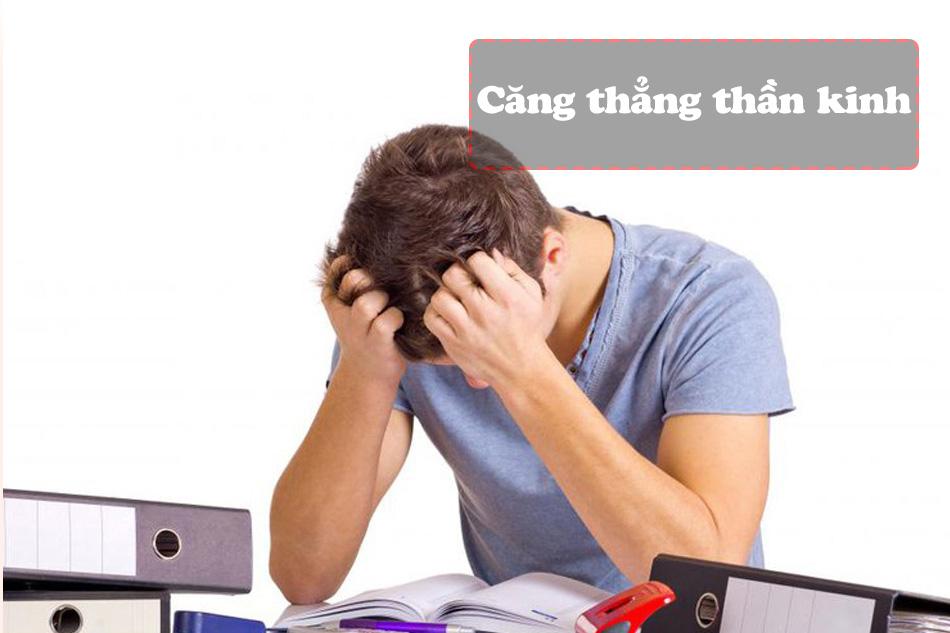 Căng thẳng thần kinh gây ra đau đỉnh đầu
