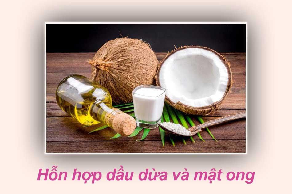 Làm mềm lông vùng kín bằng hỗn hợp dầu dừa và mật ong