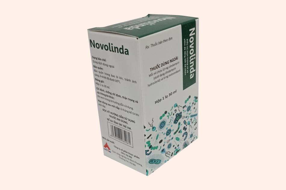 Novolinda bào chế dạng dung dịch