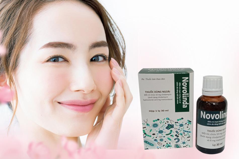 Thuốc trị mụn Novolinda sản xuất bởi Công ty CPC1