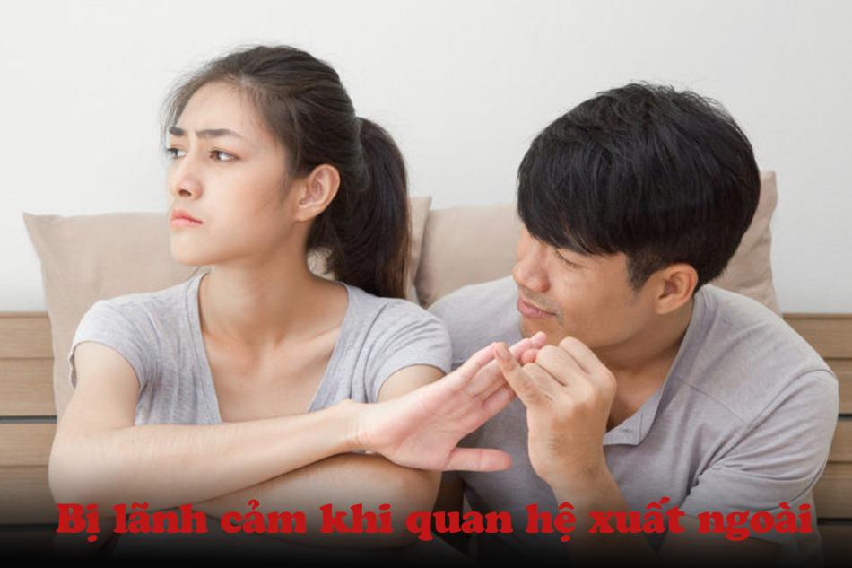 Bạn tình có nguy cơ bị lãnh cảm khi quan hệ xuất ngoài