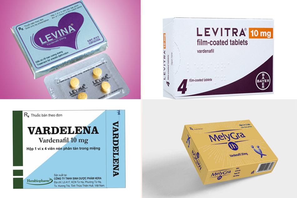 Các biệt dược phổ biến có chứa Vardenafil