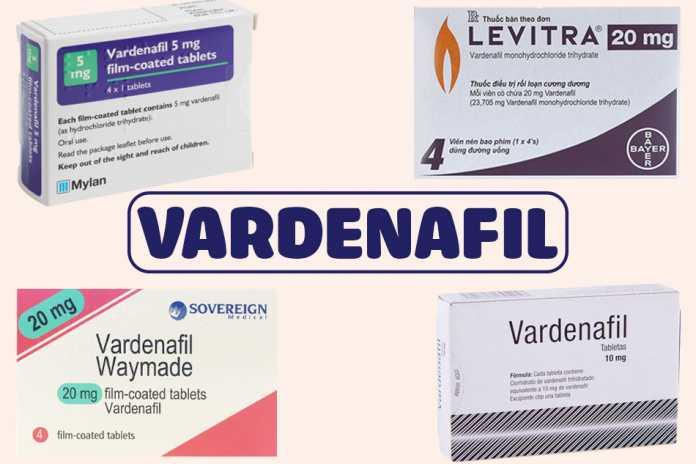 Một số biệt dược có thành phần là Vardenafil