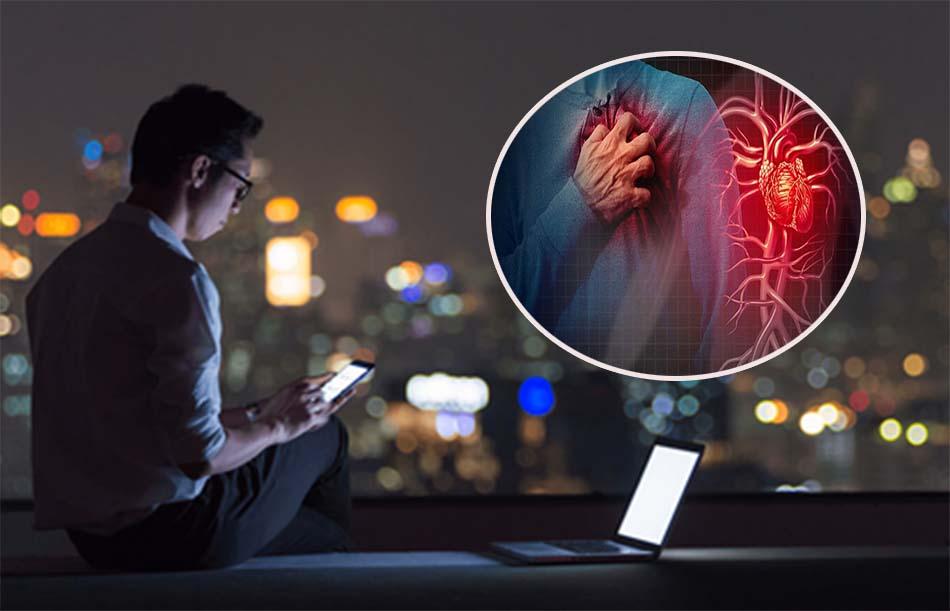 Thức khuya ảnh hưởng đến tim mạch