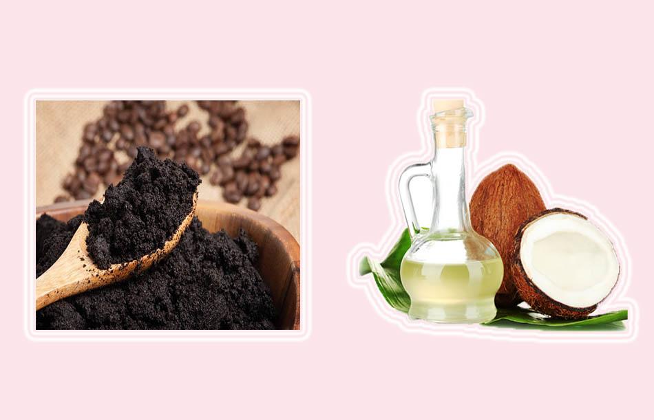 Ủ tóc với bã cà phê và dầu dừa