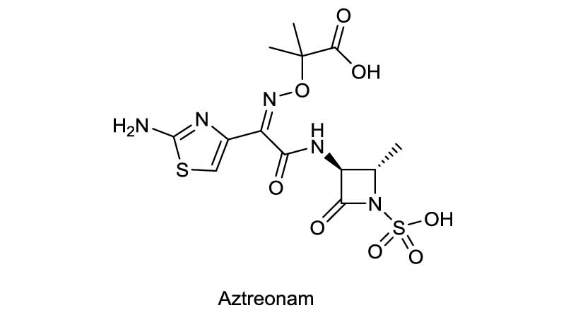 Ảnh. Cấu trúc hóa học của Aztreonam.
