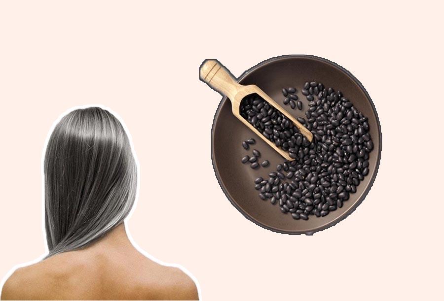 Chữa tóc bạc sớm bằng đậu đen rang