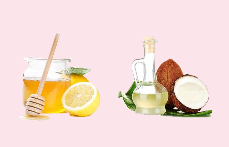 Dầu dừa kết hợp mật ong chanh cho tóc hư tổn