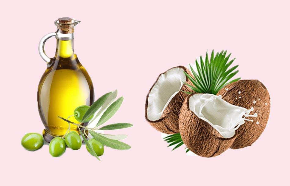 Ủ tóc bằng dầu oliu và dầu dừa