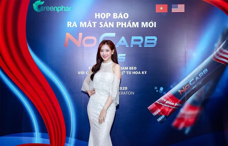 Hariwon tại buổi ra mắt sản phẩm Nocarb Plus