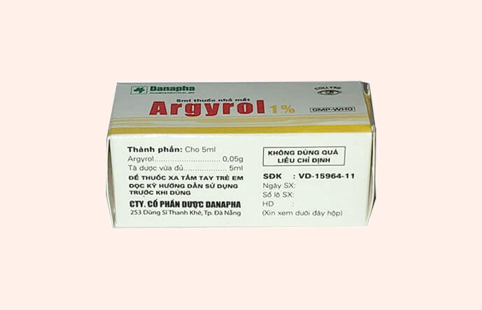 Hình ảnh: Hộp thuốc nhỏ mắt Argyrol 1%