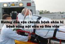 Hướng dẫn vận chuyển bệnh nhân bị bệnh nặng nội viện và liên viện