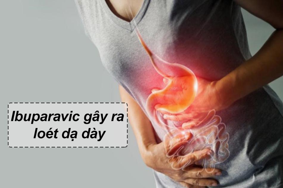 Sử dụng Ibuparavic gây ra loét dạ dày