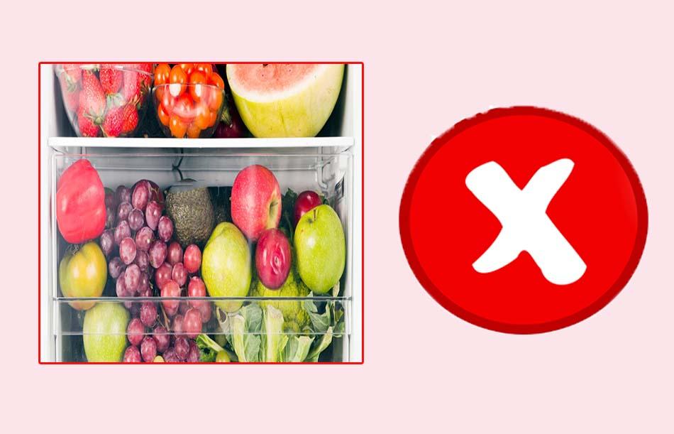 Không sử dụng hoa quả lạnh