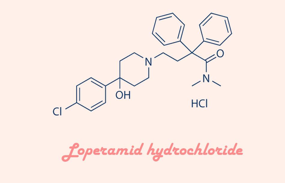 Công thức hóa học của Loperamide hydrochlorid