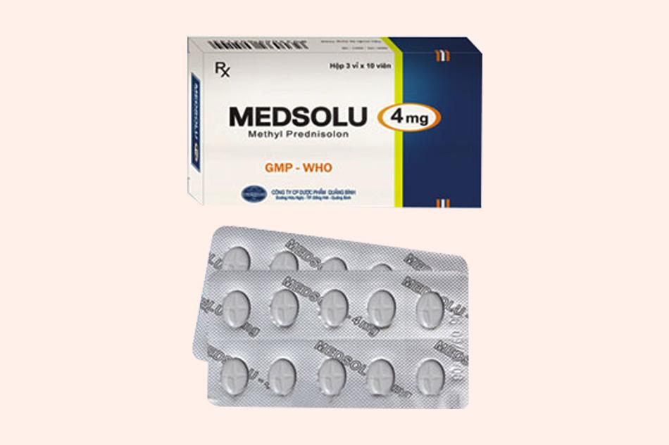 Medsolu thuộc nhóm thuốc kháng viêm