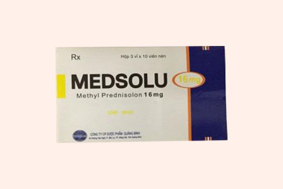 Hình ảnh hộp thuốc Medsolu 16mg