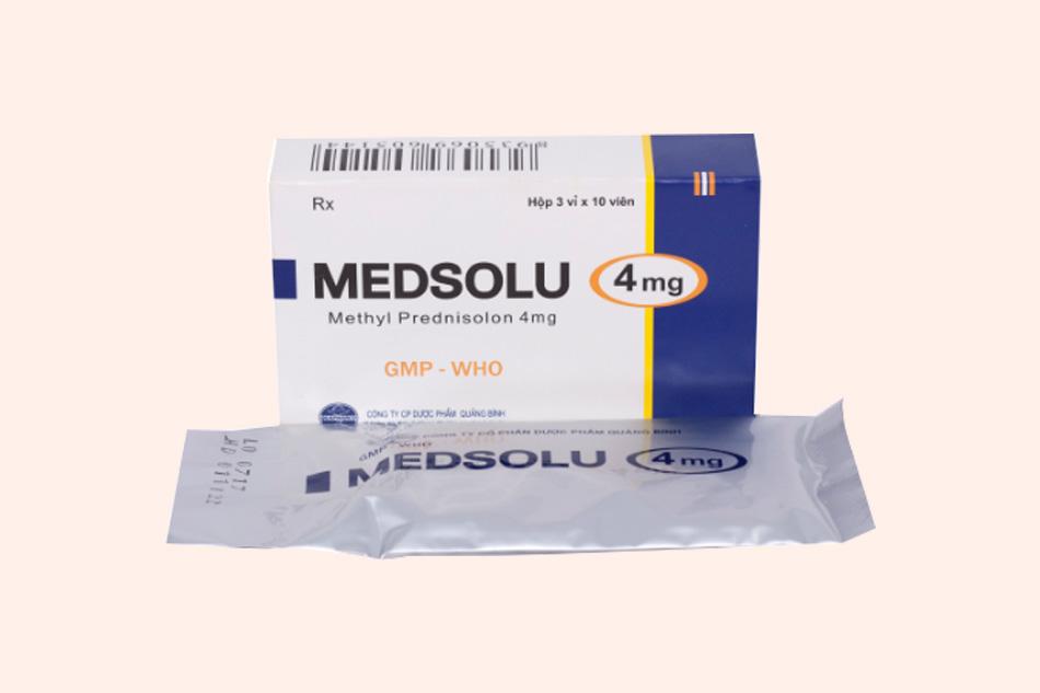 Hình ảnh hộp thuốc Medsolu 4mg