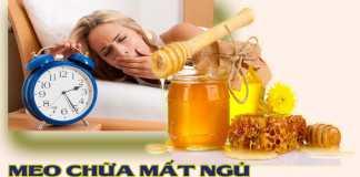 Mẹo chữa mất ngủ bằng mật ong