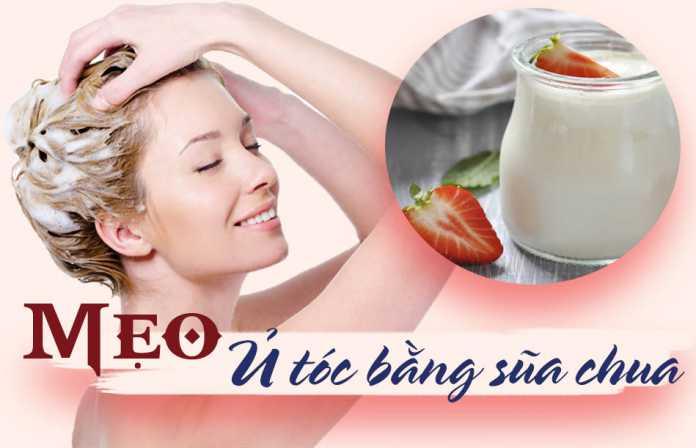 Mẹo ủ tóc bằng sữa chua