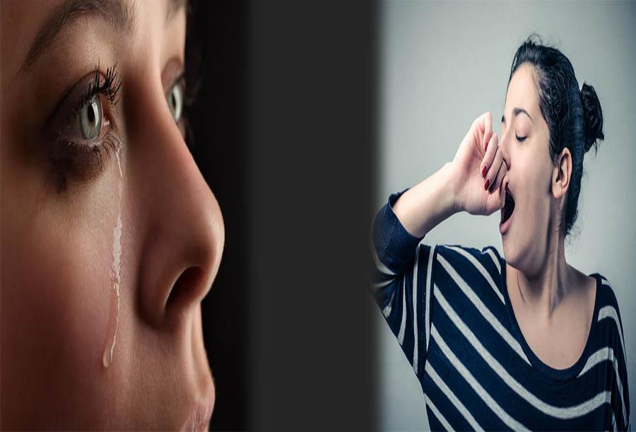 Ngáp chảy nước mắt