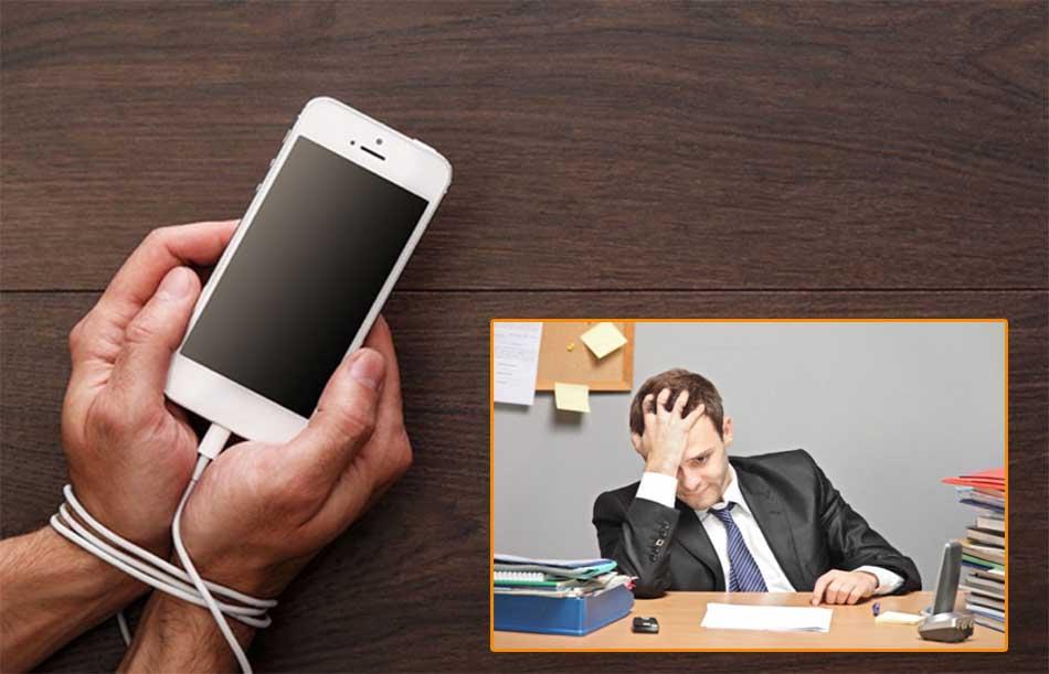 Nghiện điện thoại gây trí nhớ giảm sút