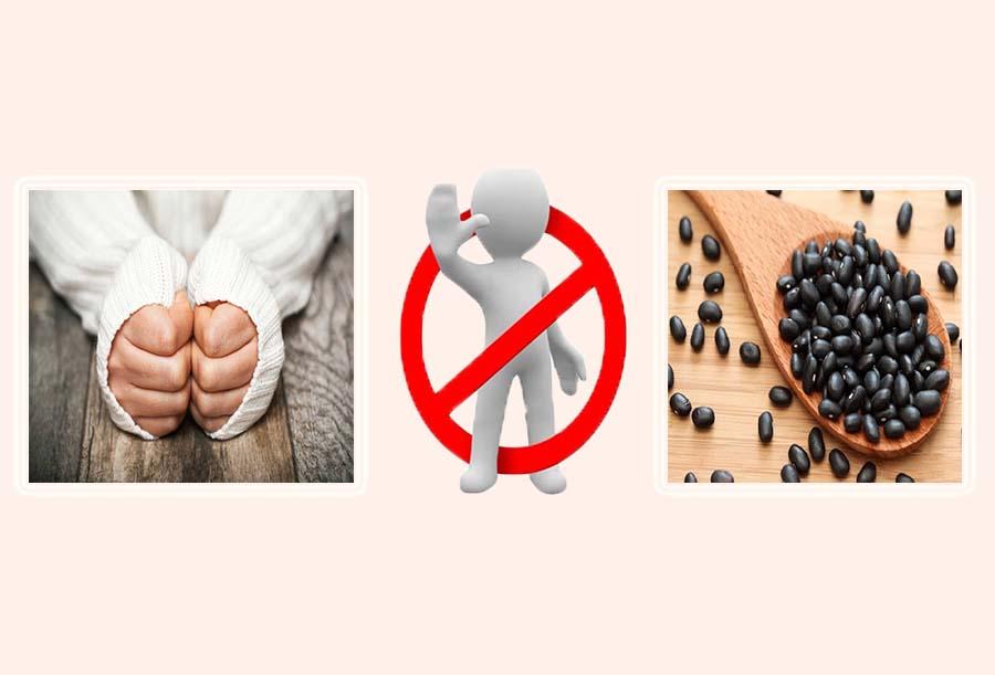 Người có cơ thể hàn lạnh không nên sử dụng đậu đen