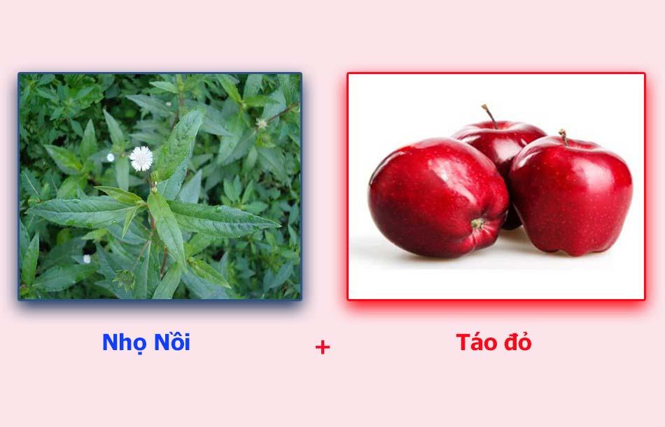 Cây nhọ nồi và táo đỏ