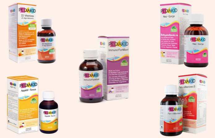 Sản phẩm cung cấp Vitamin, khoáng chất Pediakid