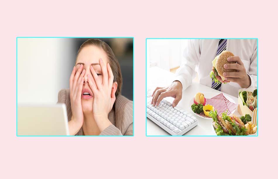 Do stress hay ăn thực ăn không lành mạnh