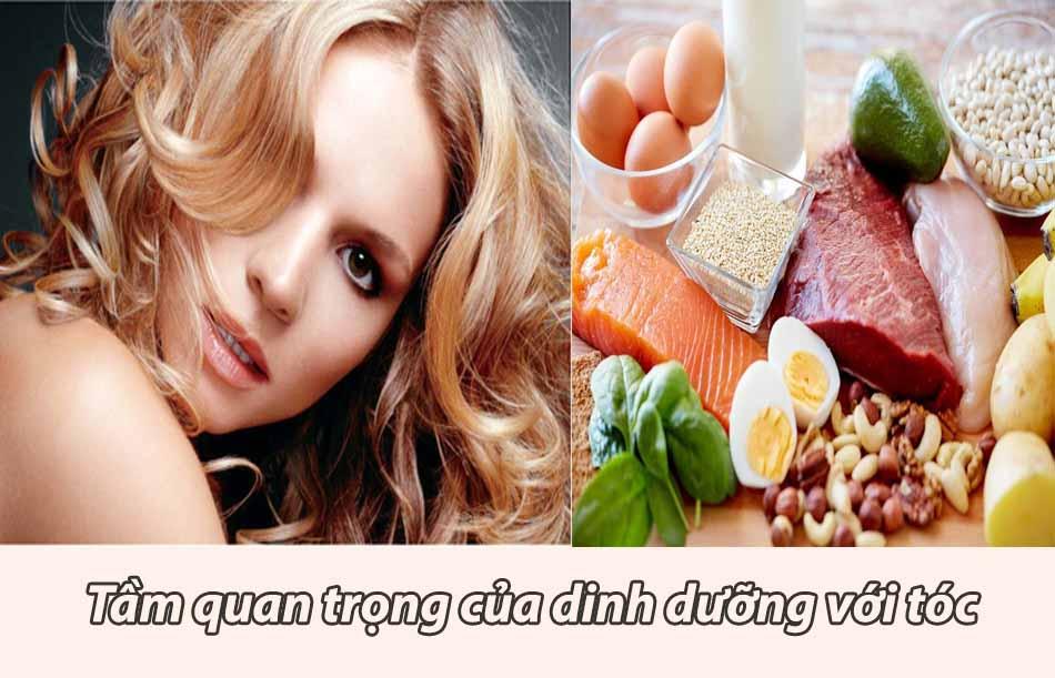 Tầm quan trọng của dinh dưỡng đối với tóc
