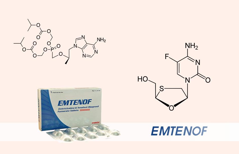 Thành phần chính của thuốc Emtenof