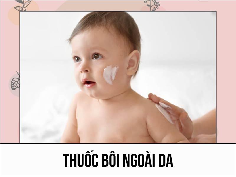 Sử dụng thuốc bôi ngoài da lên vùng bị lang beng