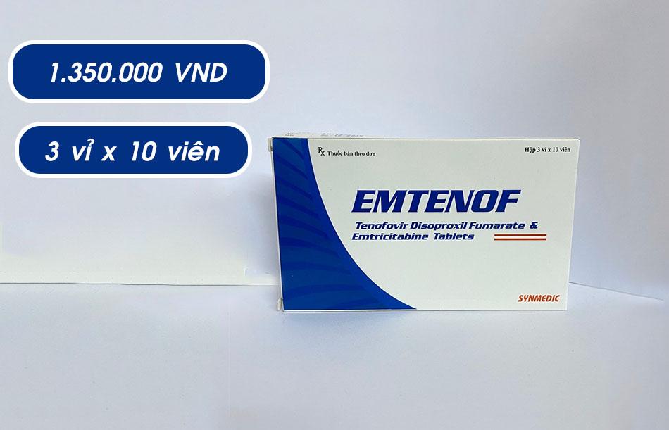 Thuốc Emtenof giá bao nhiêu?