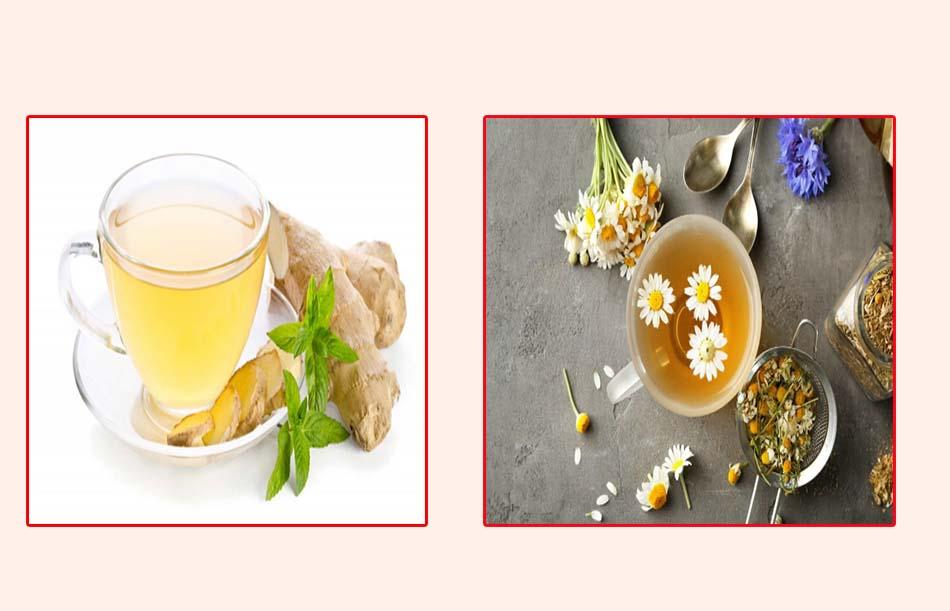 Uống trà gừng, trà hoa cúc