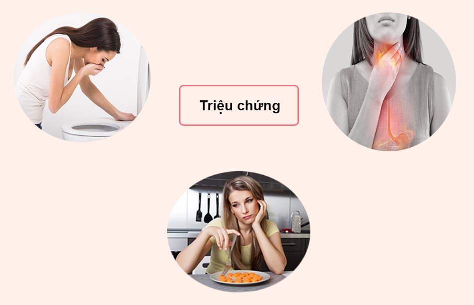 Triệu chứng của co thắt dạ dày