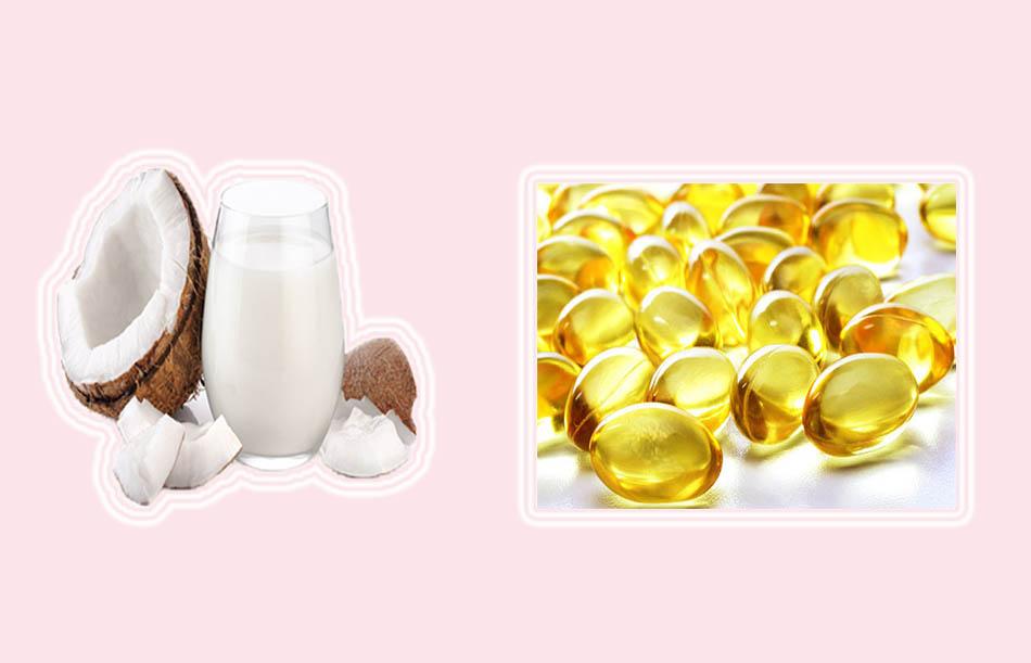 Ủ tóc bằng dầu dừa và vitamin E