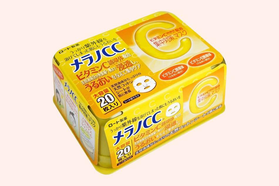 Mặt nạ trị mụn trắng da cho da nhờn CC Melano Vitamin C
