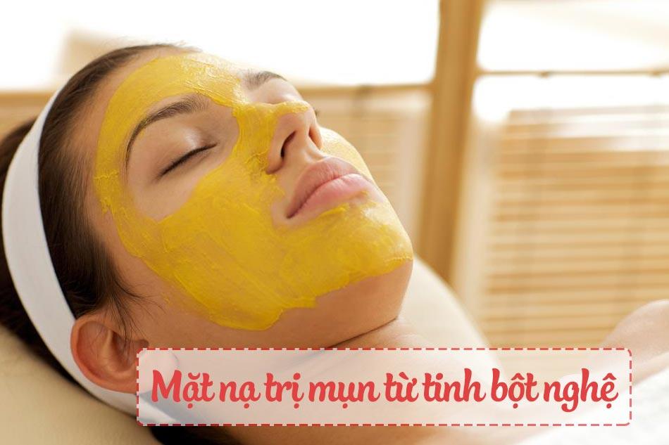 Mặt nạ trị mụn dành cho da dầu từ tinh bột nghệ