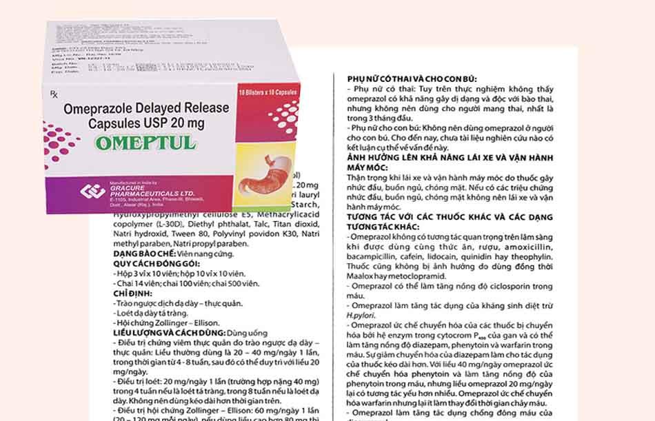 Liều dùng Omeptul