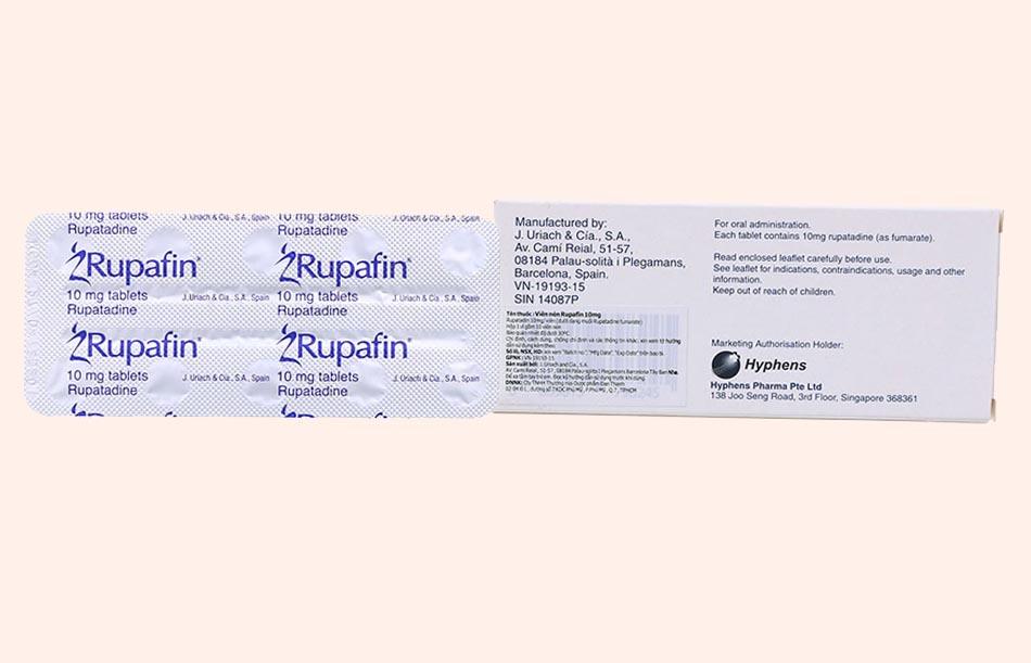 Hộp và vỉ Rupafin