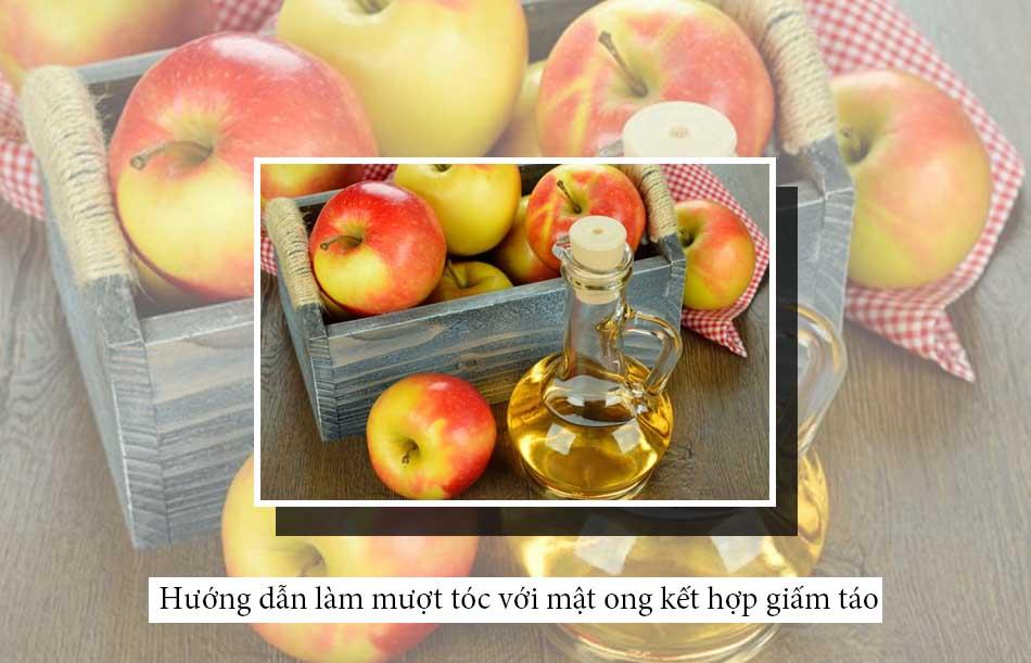 Hướng dẫn làm mượt tóc với mật ong kết hợp giấm táo